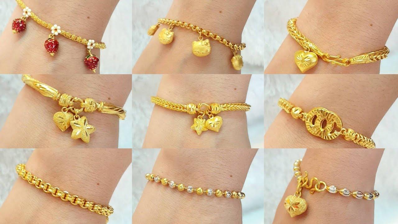 สร้อยข้อมือ 1บาท 22ลาย|Gold bracelets|ห้างทองวิริยะ 2002|ดูแนวตั้ง