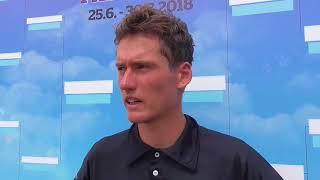 David Poljak po porážce v 1. kole Rieter Open Pardubice 2018