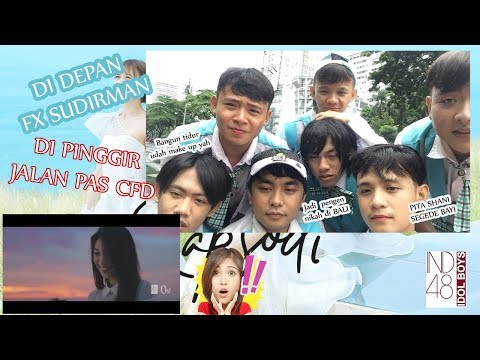 Download  REACTION JKT48 RAPSODI DI PINGGIR JALAN WAKTU CFD by IND48 Member Gratis, download lagu terbaru