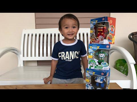 Unboxing Mainan Anak Polii Robocar Bersama Kaka Zara Cute | Mobil Jadi Robot