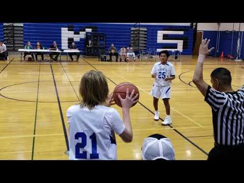 2018 Zillah Middle School Basketball Zillah vs Wapato