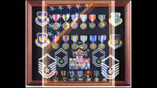 Retirement Flag And Medal Display Cases Handmade By American Veterans