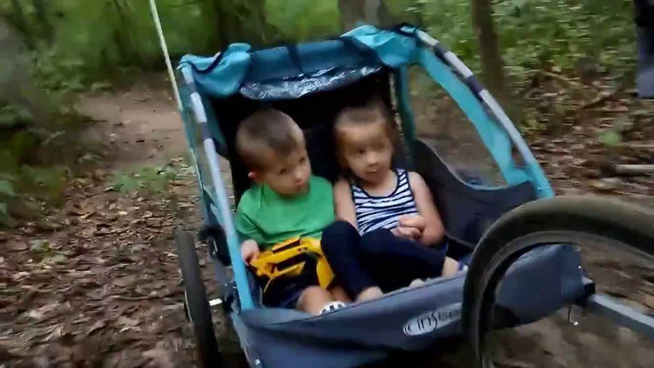 Sunset Trail Ride On The Instep Take2 Double Bike Trailer Youtube