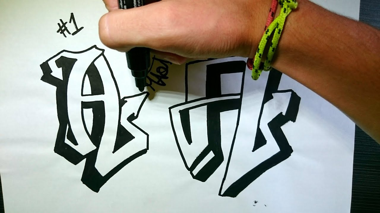 "How to Draw Graffiti Letter ""A"" on Paper - YouTube Y Graffiti Letters"