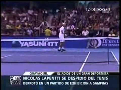 TENNIS / Despedida de Nicolás Lapentti vs Sampras