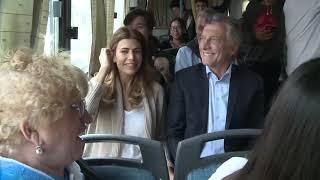 El presidente Macri recorrió el Metrobus de Neuquén