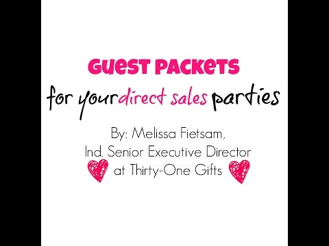 Guest Packets for Direct Sales Parties