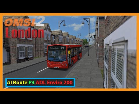 Omsi 2: Addon London ai route P4 from Brixton | ADL Enviro 200 - Stagecoach |