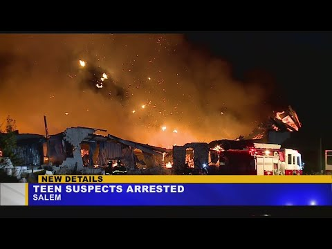 2 teens in custody in connection to old Salem China plant fire