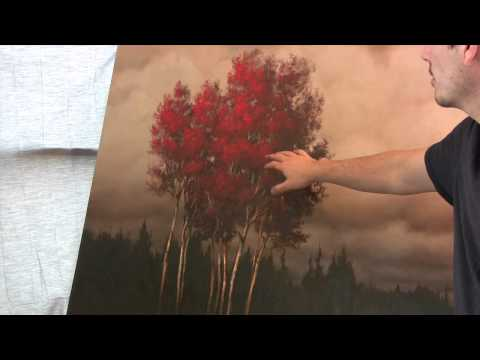 Oil and Acrylic Landscape painting tips and tricks.  Using Suggestion over details by Tim Gagnon