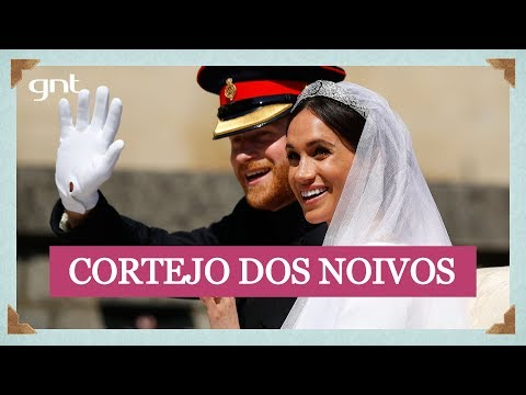 Meghan Markle e Príncipe Harry fazem cortejo de carruagem após casamento | Casamento Real