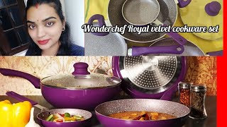 Wonderchef Royal Velvet Set Unboxing nd Review Wonderchef cookware set