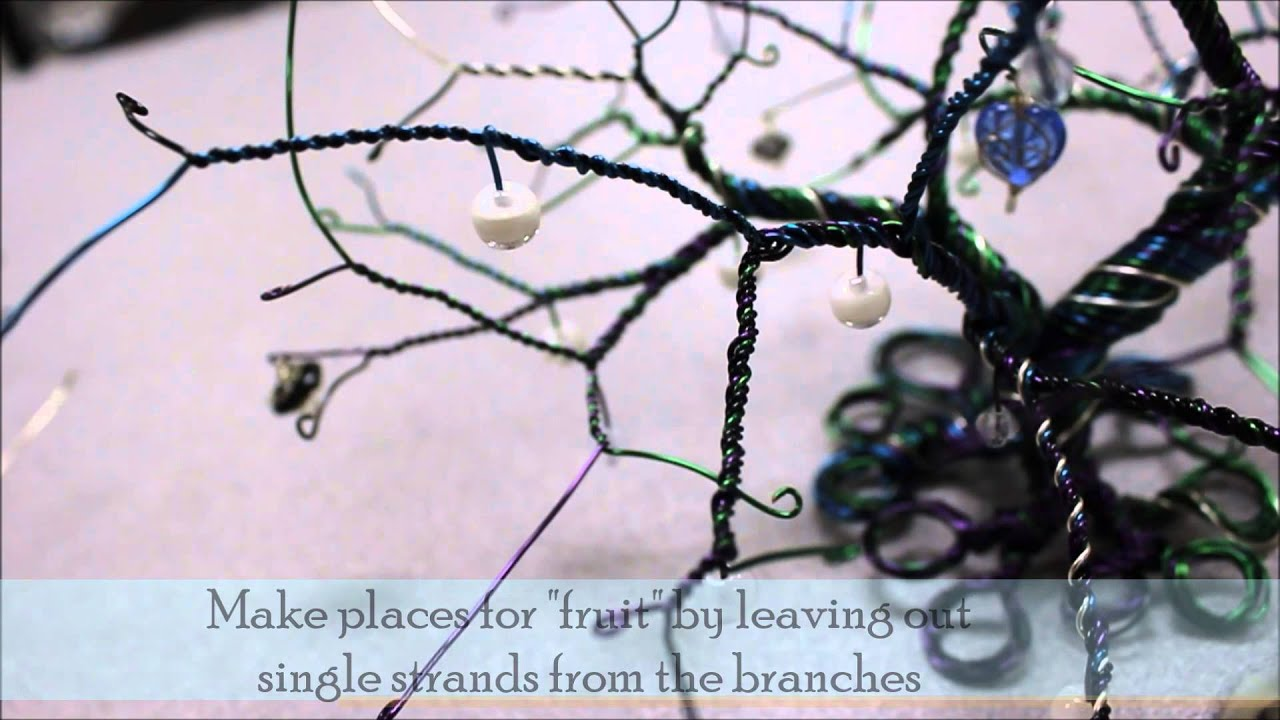 Wire tree tutorial dolgular wire tree tutorial leaves youtube ccuart Gallery
