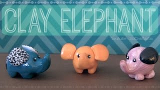 Elephant - Polymer Clay Charm - How To Thumbnail