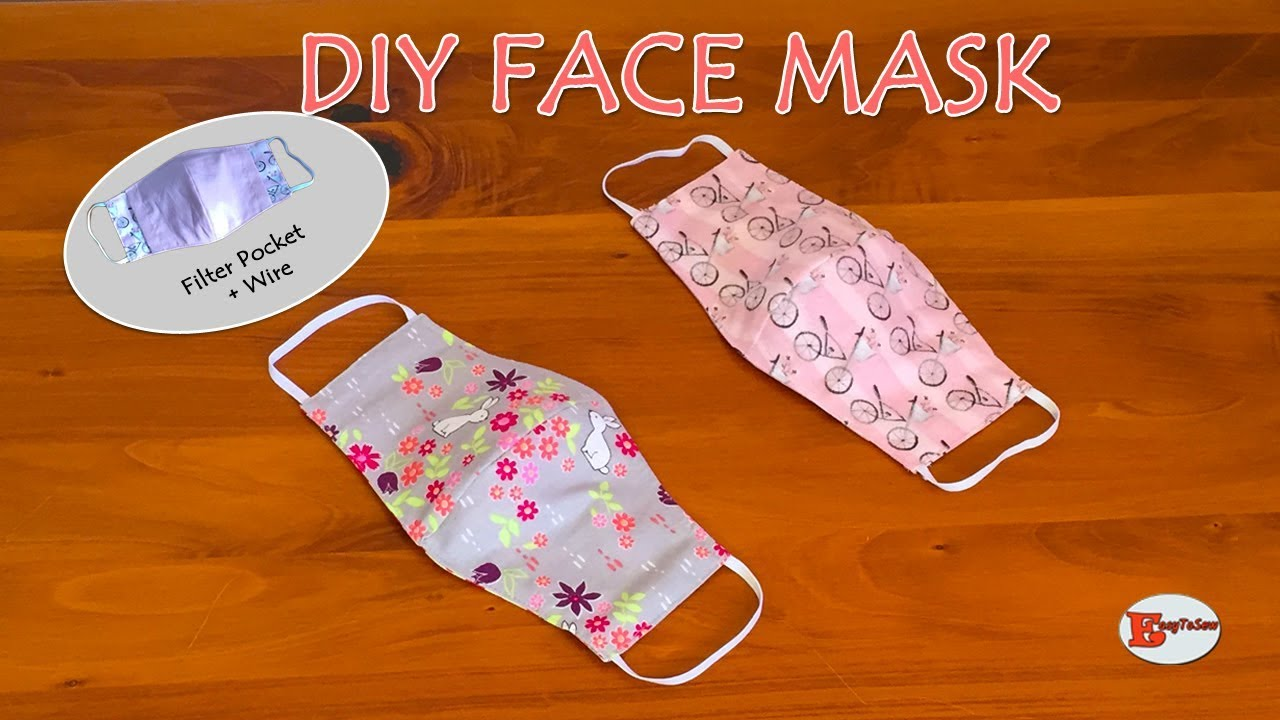 HOW TO MAKE FACE MASK AT HOME   DIY FACE MASK WITH FILTER ...