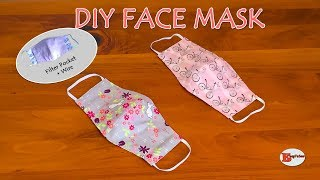 HOW TO MAKE FACE MASK AT HOME DIY FACE MASK WITH FILTER POCKET AND WIRE SEWING TUTORIAL