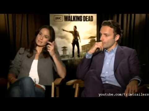 The Walking Dead Season 3 stars - Rick Grimes & Lori Grimes interview HD