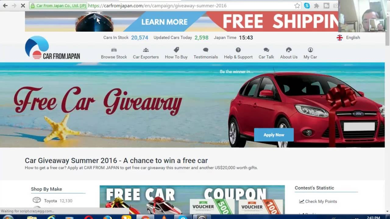 Free Car Giveaway >> Free Car Giveaway Contest Aug To Nov 2016 Youtube