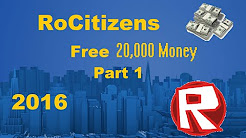 How to Make 20,000 Money in RoCitizens Roblox! EASY! Part 1 – PixelDonutGaming