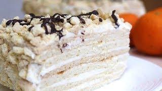 Торт Медовик на молоке с заварным кремом