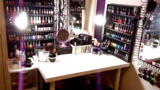 Makeup Collection & Vanity Tour (updated Nov 2011) ♡ Theeasydiy #organization