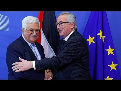 Palestinian Authority president meets senior EU figures in Brussels