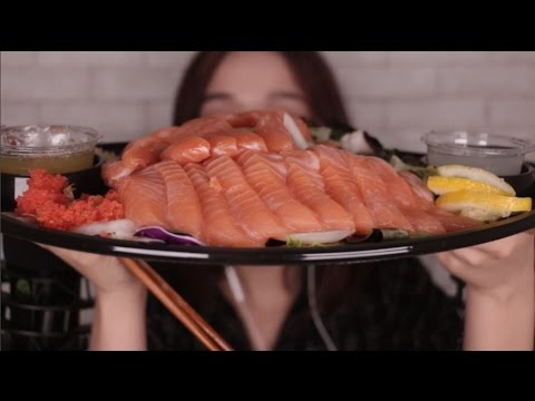 [ASMR]Fresh Salmon Salad Eating Sound 연어샐러드 이팅사운드(영어)