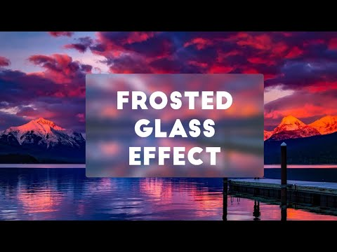 Frosted Glass Effect using CSS | No Javascript