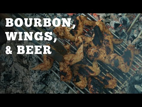 How to Cook Wings and a Cocktail Over Fire   Buffalo Trace & Over the Fire Cooking