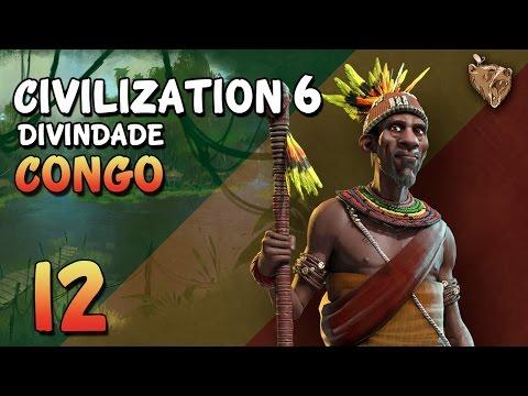 """Civilization 6 Congo #12 """"A Guerra está de volta"""" - Vamos Jogar Deity Gameplay Português PT-BR"""