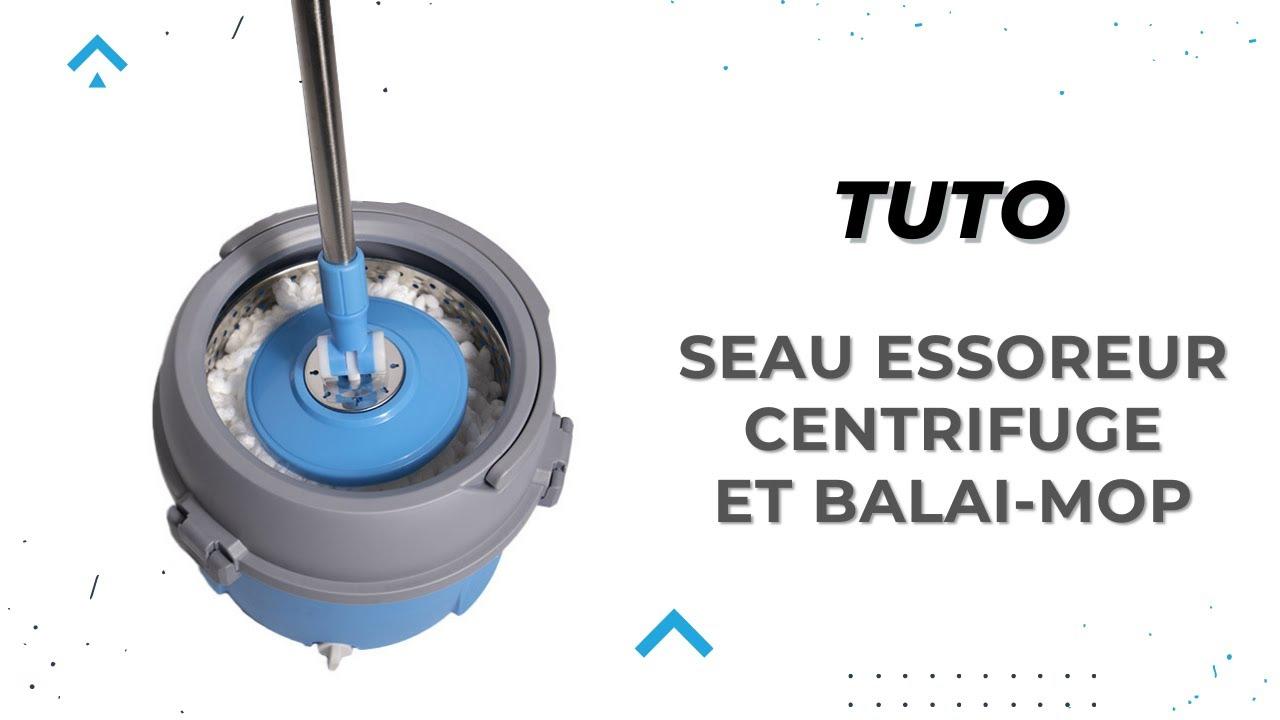 tutoriel d utilisation du seau essoreur avec centrifugeuse et balai mop