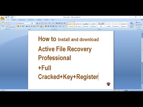 How To Install And Download Active File Recovery Professional Full Cracked