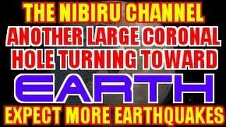 ANOTHER LARGE CORONAL HOLE TURNING TOWARD EARTH