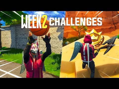 Fortnite WEEK 2 Challenges Guide - Basketball Locations, Search Between Treasure Map