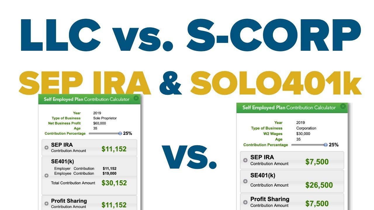 Sep Ira Vs Solo 401k Retirement Plans For Small Business Youtube