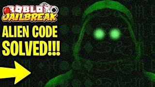 Jailbreak MAPLESTICK SECRET ALIEN CODE SOLVED! ALIEN INVASION HAPPENING | Roblox Jailbreak Update