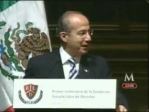 Calderón recuerda su estancia en la Escuela Libre de Derecho