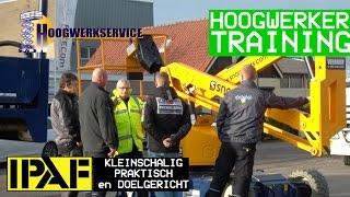 Hoogwerker training IPAF  [door Hans van Gameren]
