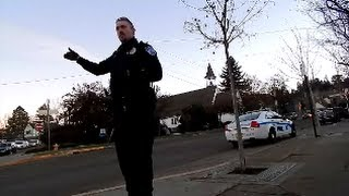 Friendly Ashland Oregon Police, open carry Mosin Nagant and pistols.