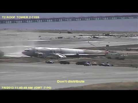 Asiana airlines crash SFO control tower video