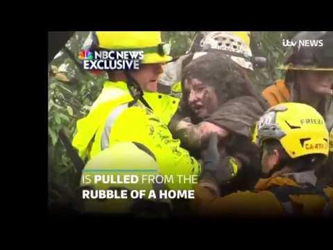 AMAZING California mudslide rescue! California mudslide has killed at least 15 people 10/01/2018