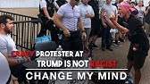 Insane Anti-Trump Protester goes BERSERK on Crowder!Change My Mind