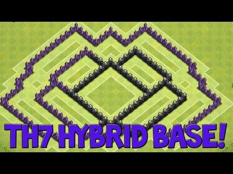 Clash of Clans - Epic TH7 Hybrid Base | Doovi