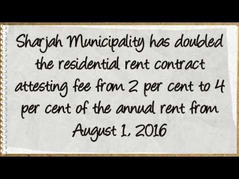 Sharjah rent contract registration fee doubled from 01 Augus