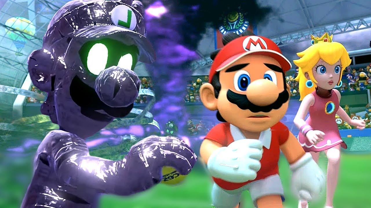 How Luigi Fell For The Legendary Racket Dark Trap Mario Tennis Aces Part 1 World 1