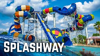 Water Slides at Splashway Water Park in Texas!