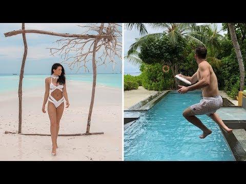 MALDIVES FRISBEE TRICKSHOTS | Brodie & Kelsey