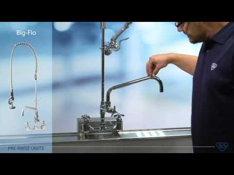 What is a Pre-Rinse Faucet | T&S Brass 5PR-8W12 Wall-Mounted Pre ...
