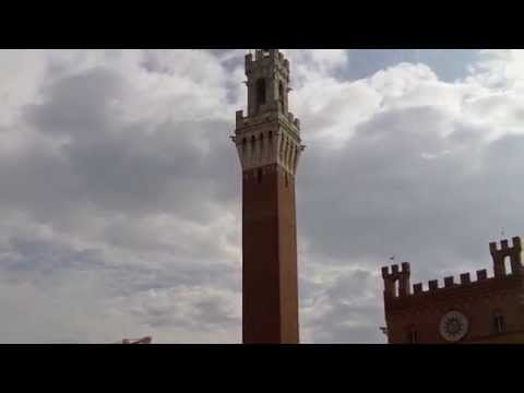 Siena Italy - Points of interest like Palazzo Pubblico - Tra