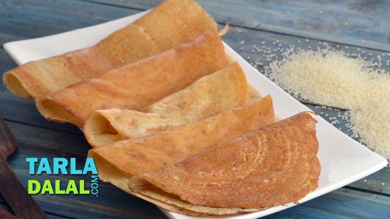 Farali dosa faral foods recipe for upvas vrat by tarla dalal youtube forumfinder Images